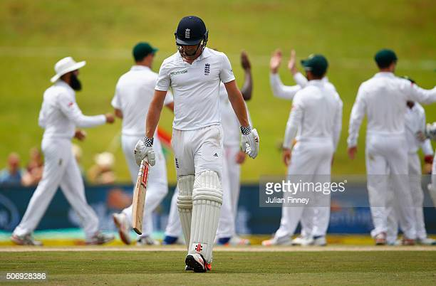 Chris Woakes of England walks off after getting out during day five of the 4th Test at Supersport Park on January 26 2016 in Centurion South Africa