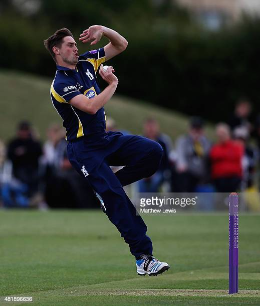 Chris Woakes of Warwickshire in action during the Royal London OneDay Cup match between Nottinghamshire and Warwickshire at Welbeck Colliery Cricket...