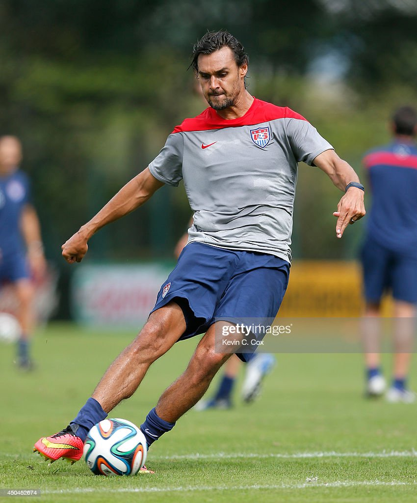 <a gi-track='captionPersonalityLinkClicked' href=/galleries/search?phrase=Chris+Wondolowski&family=editorial&specificpeople=2579265 ng-click='$event.stopPropagation()'>Chris Wondolowski</a> of the United States runs drills during their training session at Sao Paulo FC on June 11, 2014 in Sao Paulo, Brazil.