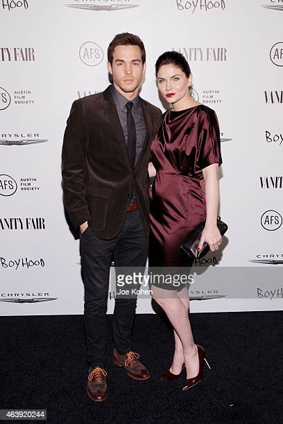 Chris Wood and Jodi Lyn O'Keefe attend Vanity Fair and Chrysler celebrate Richard Linklater and the cast of 'Boyhood' at Cecconi's Restaurant on...