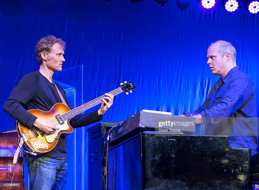 Chris Wood and John Medeski of Medeski Martin Wood perform at the Cheltenham Jazz Festival on May 3 2015 in Cheltenham United Kingdom