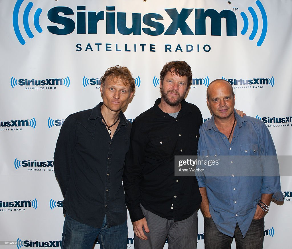 Chris Wood, Billy Martin and John Medeski visit SiriusXM at SiriusXM Studio on September 7, 2012 in New York City.