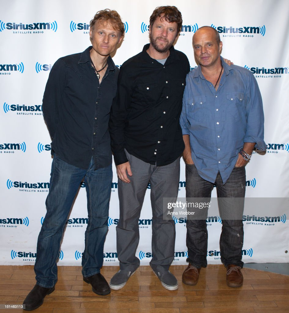 Chris Wood, Billy Martin and John Medeski visit SiriusXM at SiriusXM Studio on September 7, 2012 in New York City.