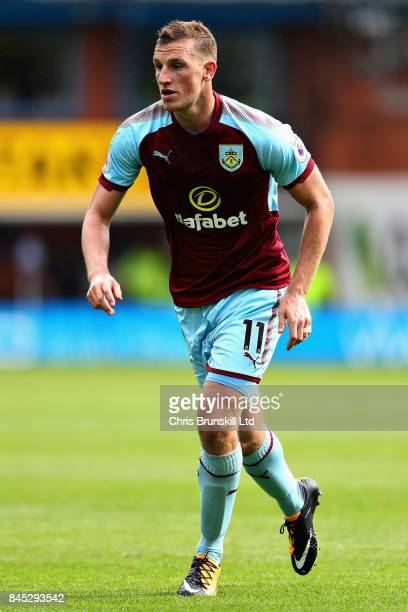 Chris Wood of Burnley in action during the Premier League match between Burnley and Crystal Palace at Turf Moor on September 10 2017 in Burnley...