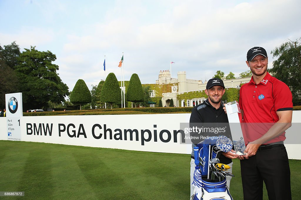<a gi-track='captionPersonalityLinkClicked' href=/galleries/search?phrase=Chris+Wood+-+Golfer&family=editorial&specificpeople=4601133 ng-click='$event.stopPropagation()'>Chris Wood</a> of England and caddie Mark Crane pose with the trophy following his victory during day four of the BMW PGA Championship at Wentworth on May 29, 2016 in Virginia Water, England.