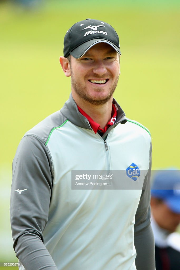 <a gi-track='captionPersonalityLinkClicked' href=/galleries/search?phrase=Chris+Wood+-+Golfer&family=editorial&specificpeople=4601133 ng-click='$event.stopPropagation()'>Chris Wood</a> of England smiles on the 1st hole during day four of the BMW PGA Championship at Wentworth on May 29, 2016 in Virginia Water, England.