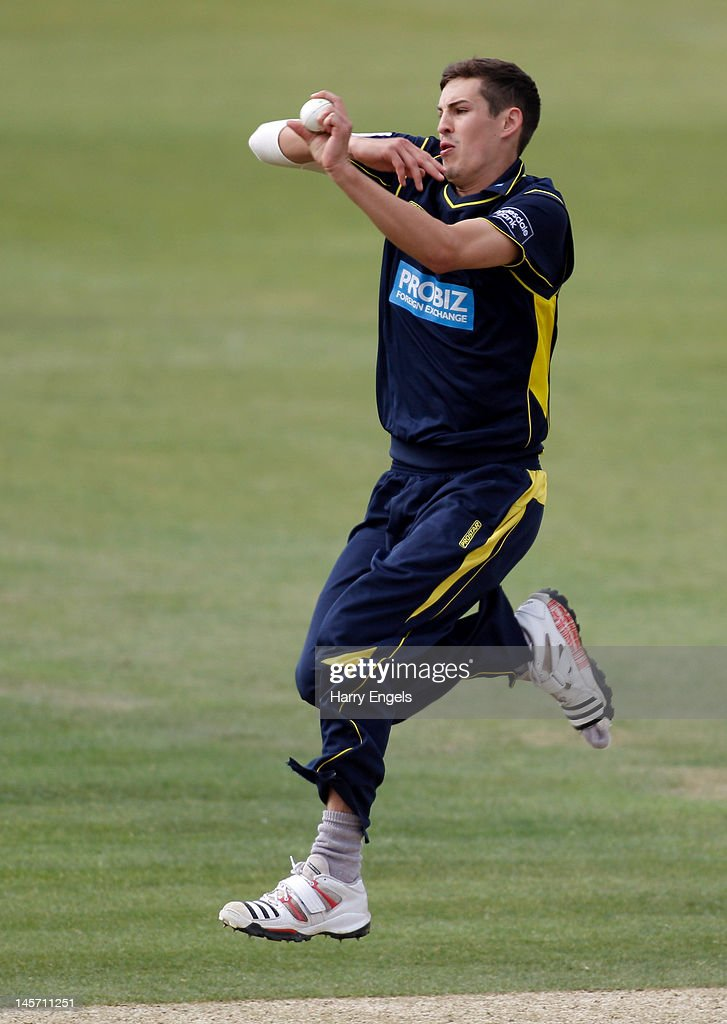 <a gi-track='captionPersonalityLinkClicked' href=/galleries/search?phrase=Chris+Wood+-+Cricket+Player&family=editorial&specificpeople=15004928 ng-click='$event.stopPropagation()'>Chris Wood</a> of Hampshire bowls during the Clydesdale Bank Pro40 match between the Hampshire Royals and the Scottish Saltires on June 4, 2012 in Southampton, England.