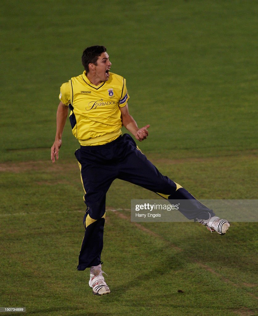 <a gi-track='captionPersonalityLinkClicked' href=/galleries/search?phrase=Chris+Wood+-+Cricket+Player&family=editorial&specificpeople=15004928 ng-click='$event.stopPropagation()'>Chris Wood</a> of Hampshire celebrates winning the Friends Life T20 Final between Hampshire and Yorkshire at the SWALEC Stadium on August 25, 2012 in Cardiff, Wales.