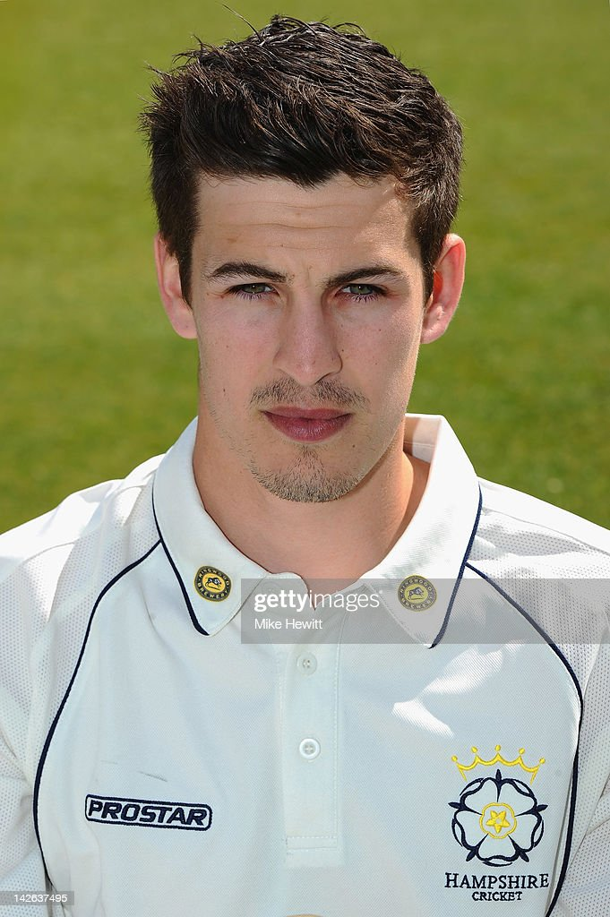 <a gi-track='captionPersonalityLinkClicked' href=/galleries/search?phrase=Chris+Wood+-+Cricket+Player&family=editorial&specificpeople=15004928 ng-click='$event.stopPropagation()'>Chris Wood</a> of Hampshire poses for a portrait during the Hampshire CCC Photocall at the Rosebowl on April 10, 2012 in Southampton, England.