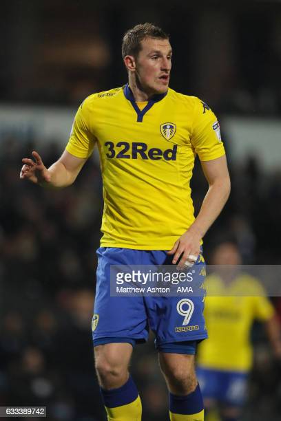 Chris Wood of Leeds United during the Sky Bet Championship match between Blackburn Rovers and Leeds United at Ewood Park on February 1 2017 in...