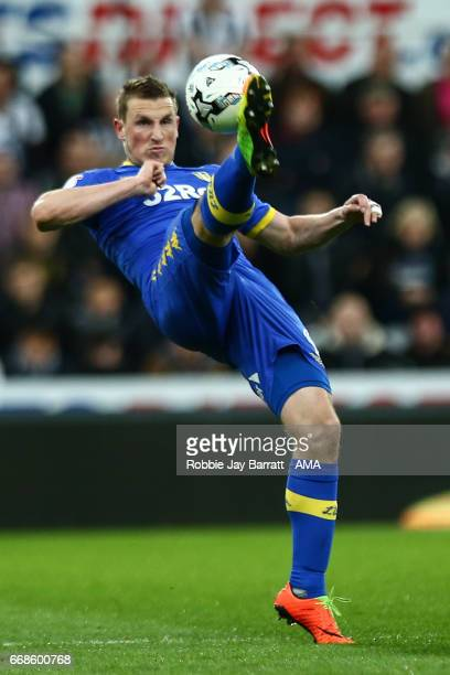 Chris Wood of Leeds United during the Sky Bet Championship match between Newcastle United and Leeds United at St James' Park on April 14 2017 in...