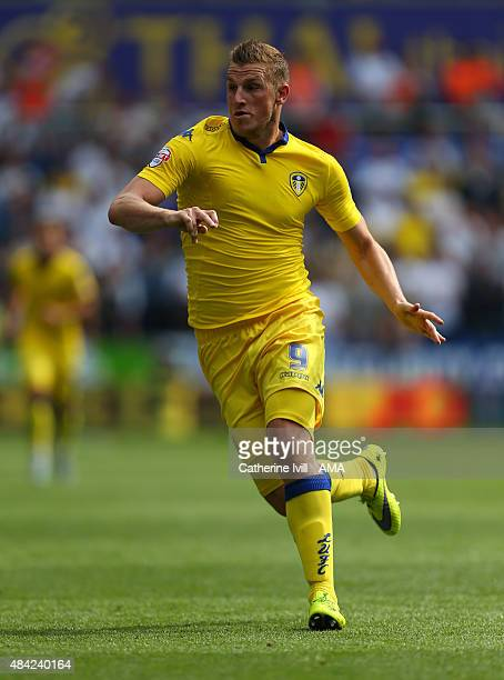 Chris Wood of Leeds United during the Sky Bet Football League Championship between Reading and Leeds United at Madejski Stadium on August 16 2015 in...