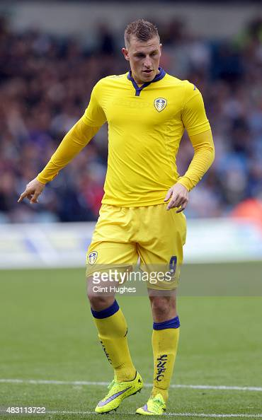 Chris Wood of Leeds United in action during the Pre Season Friendly match between Leeds United and Everton at Elland Road on August 1 2015 in Leeds...