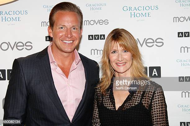 Chris Wragge and Laura Dern attend the New York Moves Magazine Laura Dern 2014 Summer Issue Party at AVA Highline on June 4 2014 in New York City