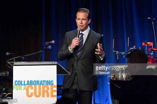Chris Wragge speaks onstage during the 17th Annual Samuel Waxman Cancer Research Foundation's Collaborating For A Cure Benefit Dinner Auction at...