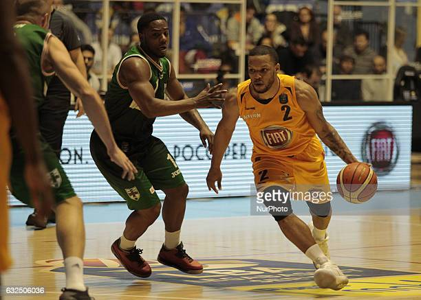Chris Wright during Italy Lega Basket of Serie A match between Fiat Torino v Sidigas Avellino in Turin on january 22 2017