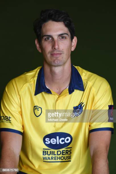 Chris Wright of the Birmingham Bears in the NatWest T20 Blast kit during the Warwickshire County Cricket photocall at Edgbaston on March 30 2017 in...