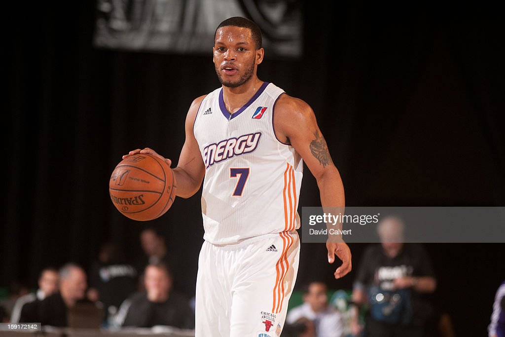 Chris Wright #7 of the Iowa Energy dribbles the ball up court against the Los Angeles D-Fenders during the 2013 NBA D-League Showcase on January 8, 2013 at the Reno Events Center in Reno, Nevada.