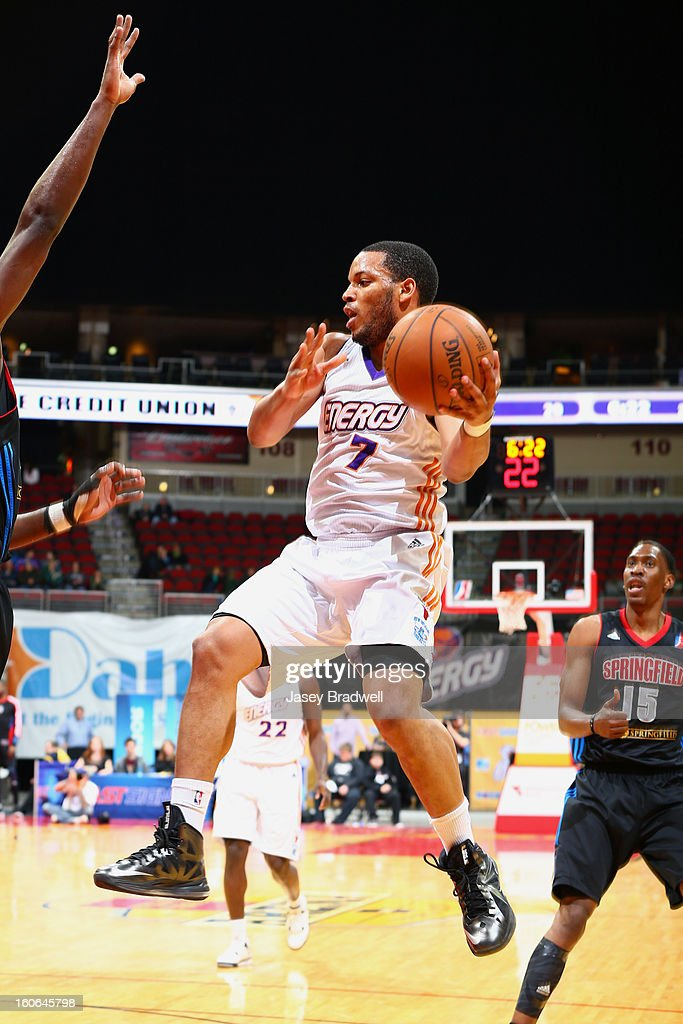 Chris Wright #7 of the Iowa Energy looks to pass against the Springfield Armor in an NBA D-League game on February 2, 2013 at the Wells Fargo Arena in Des Moines, Iowa.