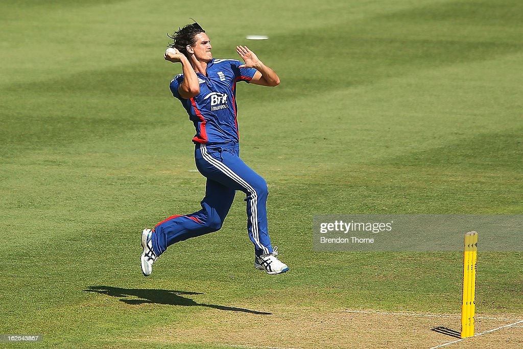 Chris Wright of the Lions bowls during the International Tour match between Australia 'A' and the England Lions at Sydney Cricket Ground on February 25, 2013 in Sydney, Australia.