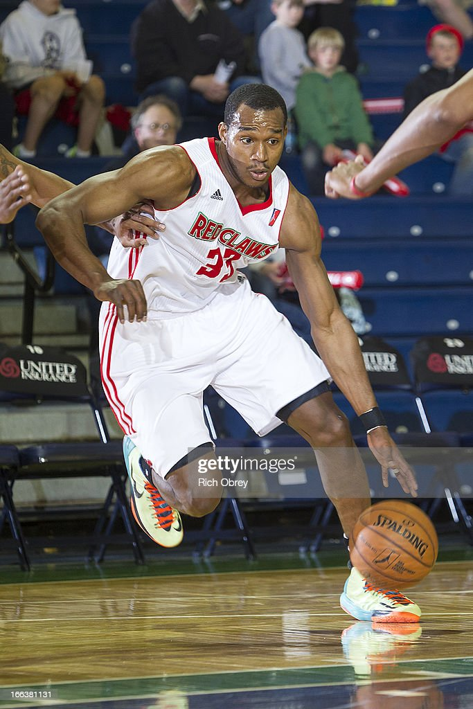 Chris Wright #33 of the Maine Red Claws drives to the basket against the Rio Grande Valley Vipers during the NBA D-League playoff game on Thursday, April 11, 2013 at the Portland Expo in Portland, Maine.