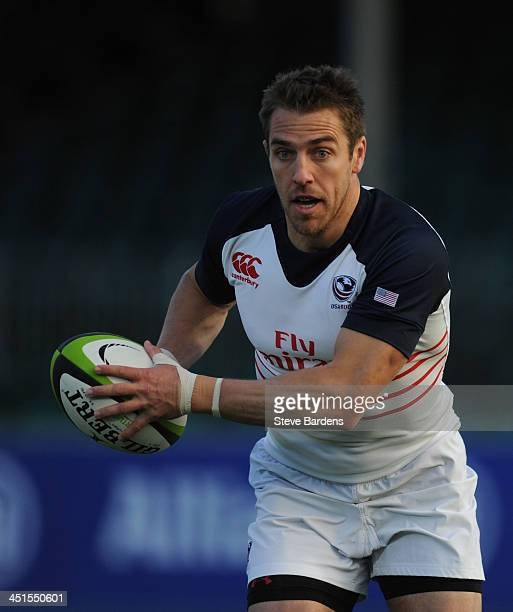 Chris Wyles of the USA in action during the International Match between Russia and the USA at Allianz Park on November 23 2013 in Barnet England