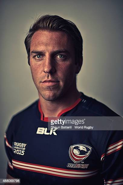 Chris Wyles of USA poses for a portrait during the USA Rugby World Cup 2015 squad photo call at the Marriott Hotel on September 13 2015 in Portsmouth...