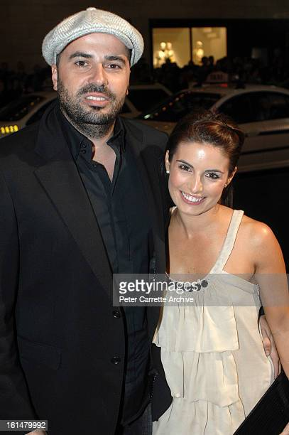 Chris Xipolitas and Ada Nicodemou arrive for the Sydney premiere of the film 'The Bourne Ultimatum' at the State Theatre on August 07 2007 in Sydney...