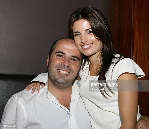 Chris Xypolitas and Ada Nicodemou during Sapphire Suite Anniversary Party in Sydney at Sapphire Suite Kings Cross in Sydney Australia