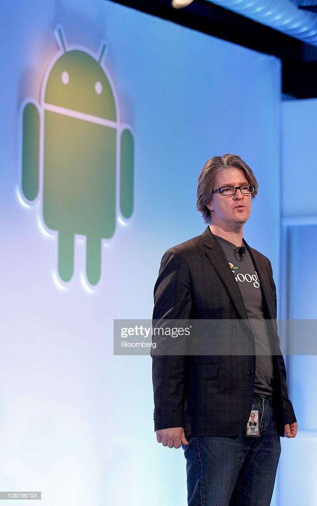 Chris Yerga, engineering director for Google Inc., talks about the Android 3.0 Honeycomb operating system during a news conference at company headquarters in Mountain View, California, U.S., on Wednesday, Feb. 2, 2011. Google Inc., owner of the world's most popular Internet search engine, opened a Web browser-based market for users of its Android smartphone software to buy applications as it battles Apple Inc. for market share. Photographer: Tony Avelar/Bloomberg via Getty Images