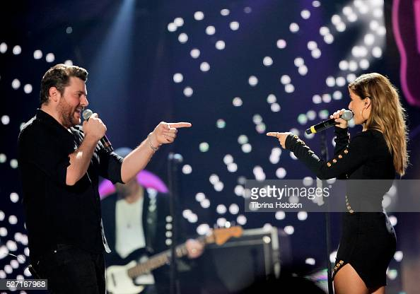Chris Young and Cassadee Pope perform at 2016 iHeartCountry Festival at The Frank Erwin Center on April 30 2016 in Austin Texas