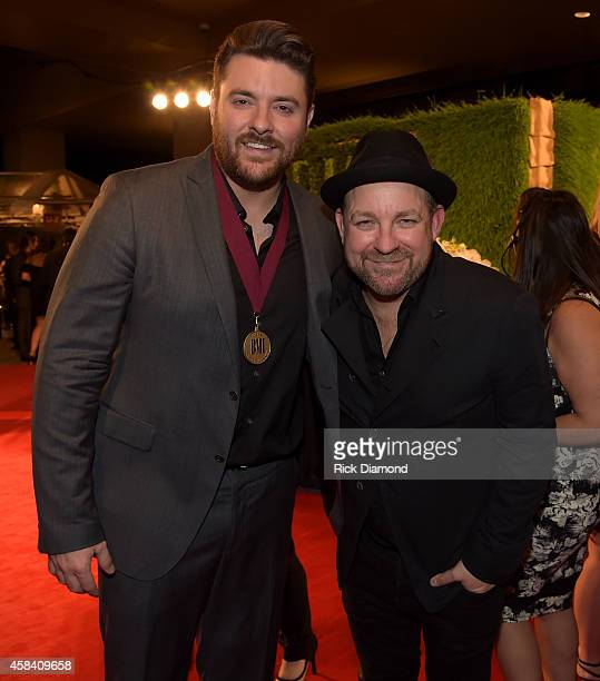 Chris Young and Kristian Bush attend the BMI 2014 Country Awards at BMI on November 4 2014 in Nashville Tennessee