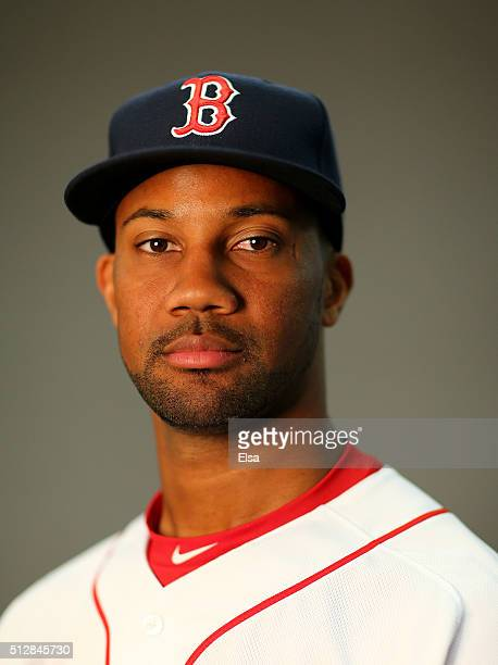 Chris Young of the Boston Red Sox poses for a portrait on February 28 2016 at JetBlue Park in Fort Myers Florida