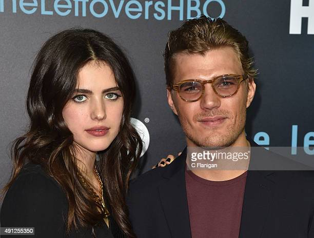 Chris Zylka and Margaret Qualley attend HBO's 'The Leftovers' Season 2 Premiere at Paramount Theatre on October 3 2015 in Austin Texas