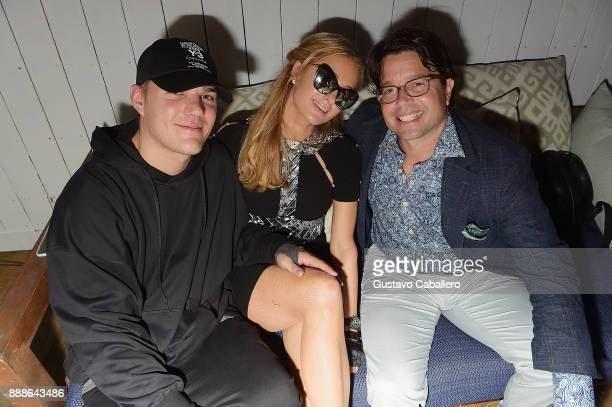 Chris Zylka Paris Hilton and Founder Chief Butler of Photo Butler Andy Goldfarb attend Rosario Dawson Hosts The Launch Of Photo Butler At Art Basel...