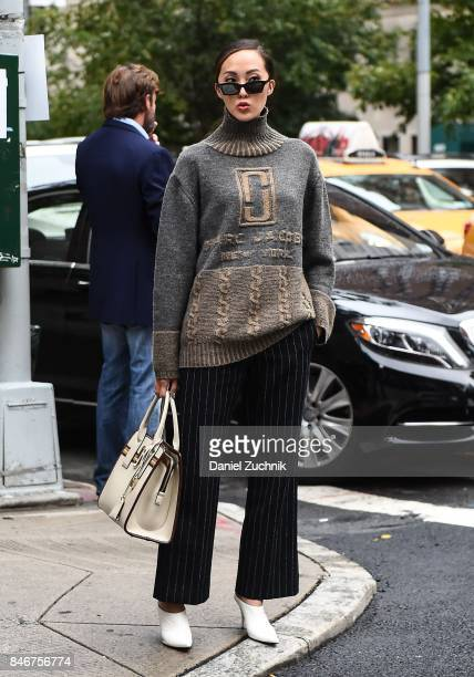 Chriselle Lim is seen outside the Marc Jacobs show during New York Fashion Week Women's S/S 2018 on September 13 2017 in New York City