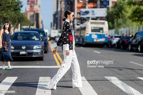 Chriselle Lim outside Coach on September 13 2016 in New York City
