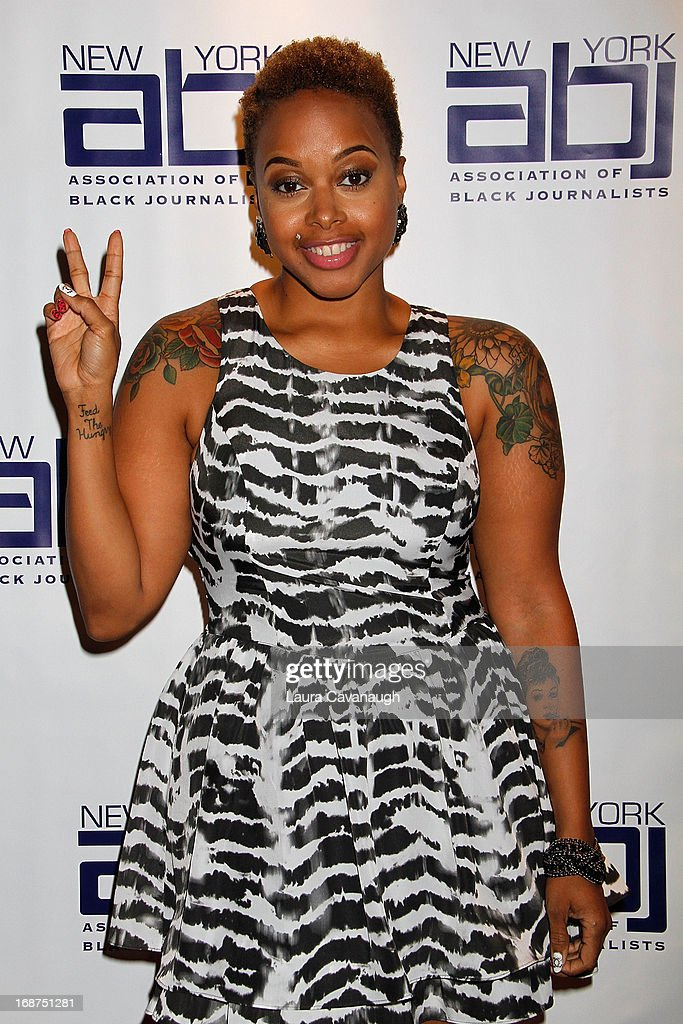 Chrisette Michele attends the 2013 New York Association Of Black Journalists Gala at the Time-Life Building on May 14, 2013 in New York City.