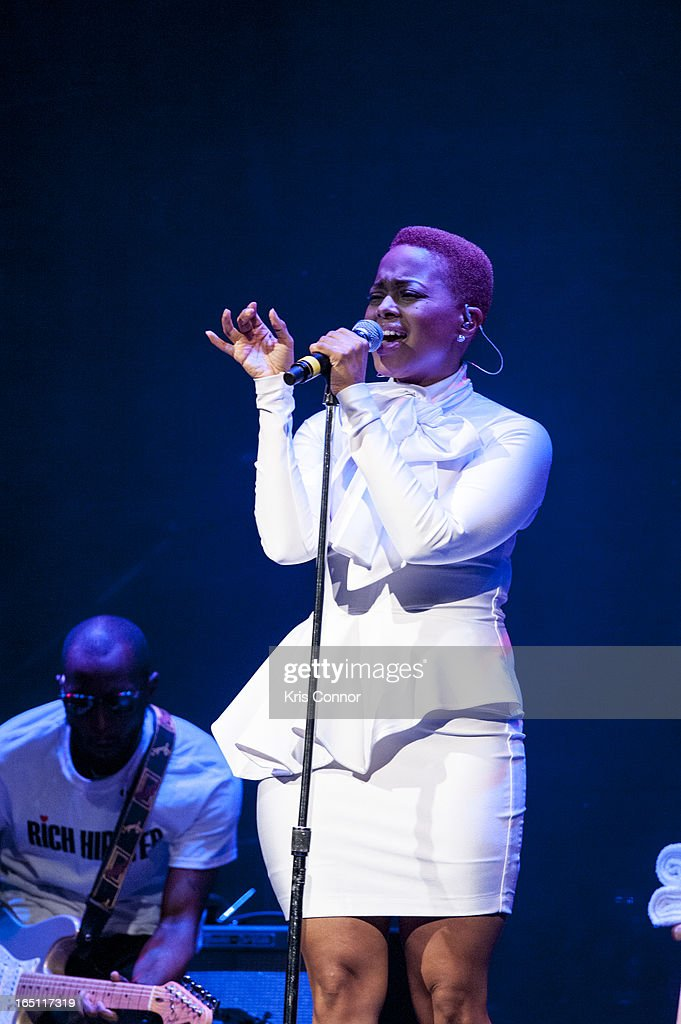 Chrisette Michele performs at Warner Theatre on March 30, 2013 in Washington, DC.