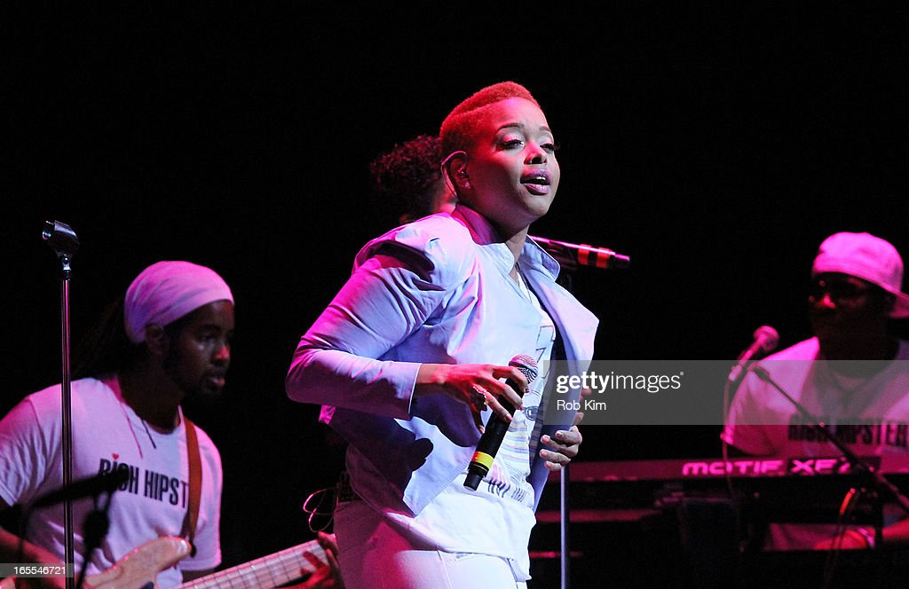 <a gi-track='captionPersonalityLinkClicked' href=/galleries/search?phrase=Chrisette+Michele&family=editorial&specificpeople=4074495 ng-click='$event.stopPropagation()'>Chrisette Michele</a> performs during the 'Woman To Woman' tour at Beacon Theatre on April 4, 2013 in New York City.