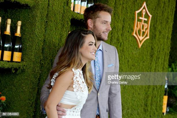 Chrishell Stause and Justin Hartley at the Eighth Annual Veuve Clicquot Polo Classic on October 14 2017 in Los Angeles California