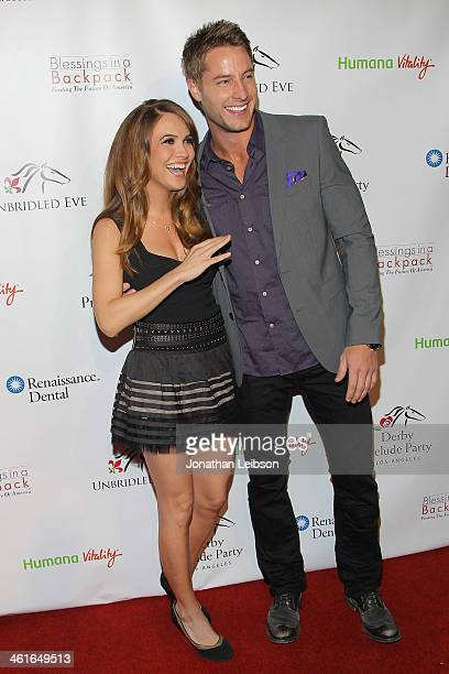 Chrishell Stause and Justin Hartley attend the 5th Annual Unbridled Eve Derby Prelude Party at The London West Hollywood on January 9 2014 in West...