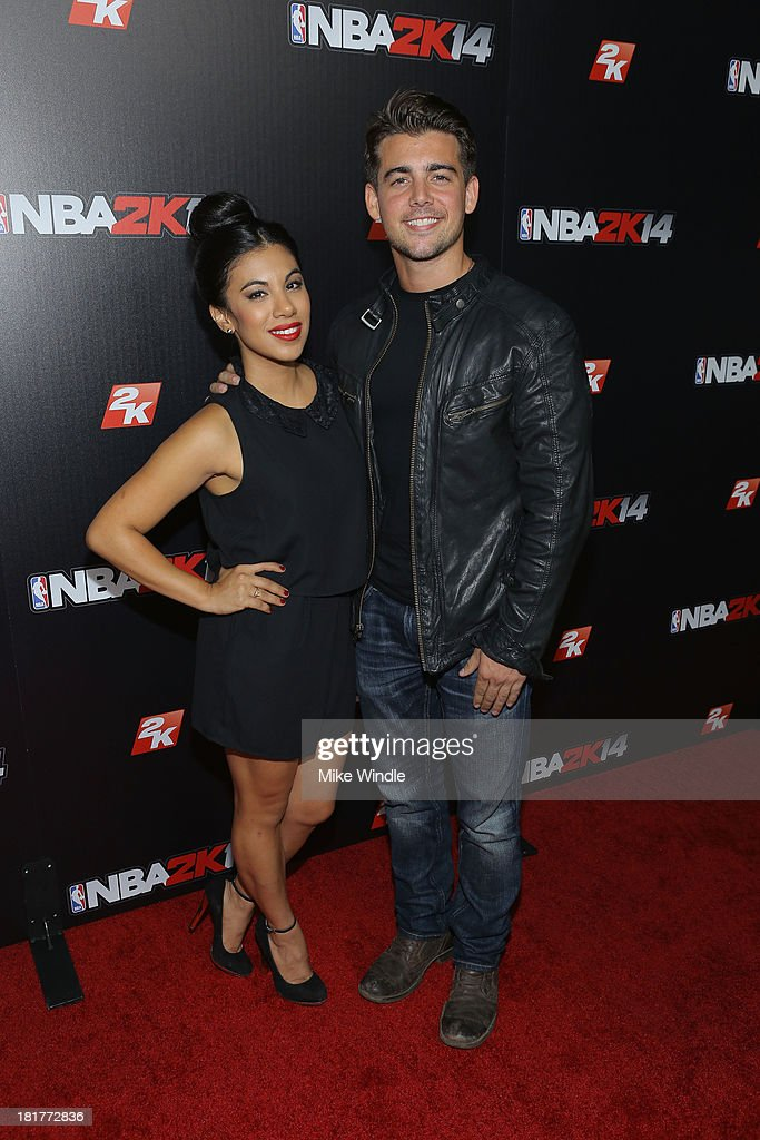 <a gi-track='captionPersonalityLinkClicked' href=/galleries/search?phrase=Chrissie+Fit&family=editorial&specificpeople=8807904 ng-click='$event.stopPropagation()'>Chrissie Fit</a> (L) and John DeLuca attend the NBA2K14 premiere party at Greystone Manor Supperclub on September 24, 2013 in West Hollywood, California.