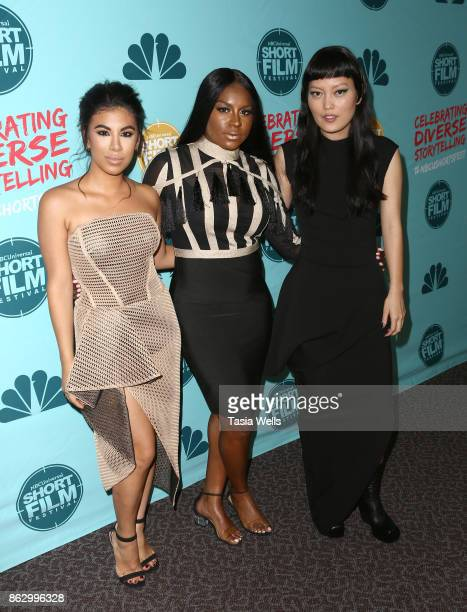Chrissie Fit Ester Dean and Hana Mae Lee at the12th Annual NBCUniversal Short Film Festival Finale Screening at Directors Guild Of America on October...