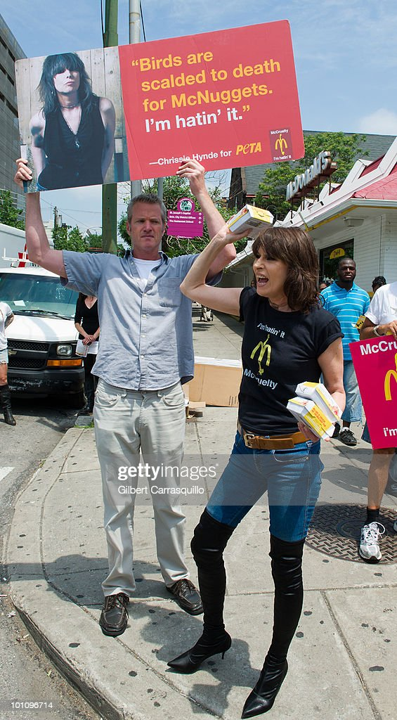 Chrissie Hynde kicks off PETA's ''I'm Hatin' It'' campaign outside a McDonald's on May 27, 2010 in Philadelphia, Pennsylvania.
