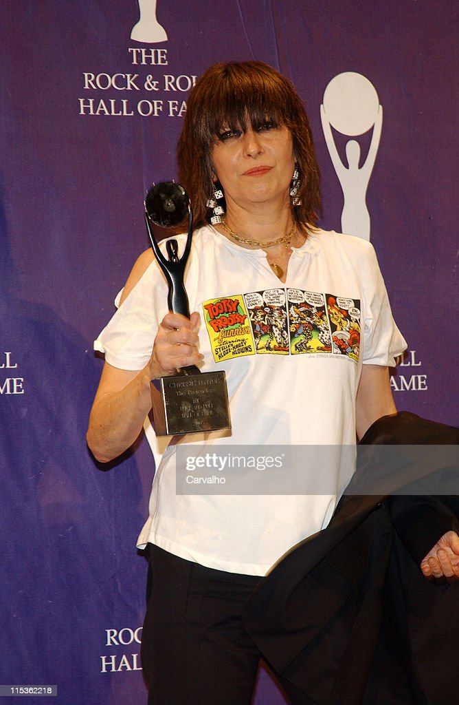 Chrissie Hynde of The Pretenders, inductee during 20th Annual Rock and Roll Hall of Fame Induction Ceremony - Press Room at Waldorf Astoria Hotel in New York City, New York, United States.