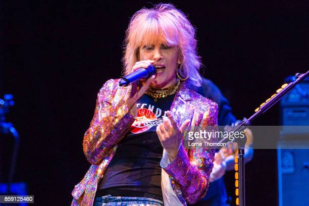 Chrissie Hynde of The Pretenders performs at Eventim Apollo on October 8 2017 in London England