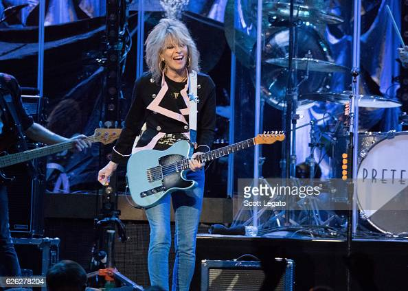 Chrissie Hynde of The Pretenders performs at The Palace of Auburn Hills on November 27 2016 in Auburn Hills Michigan