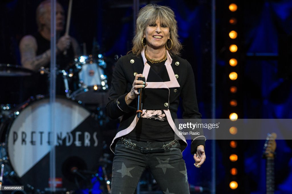 Chrissie Hynde of The Pretenders performs at The Royal Albert Hall on April 10, 2017 in London, United Kingdom.