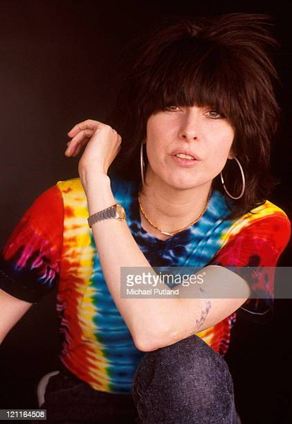 Chrissie Hynde of the Pretenders studio portrait London 1986